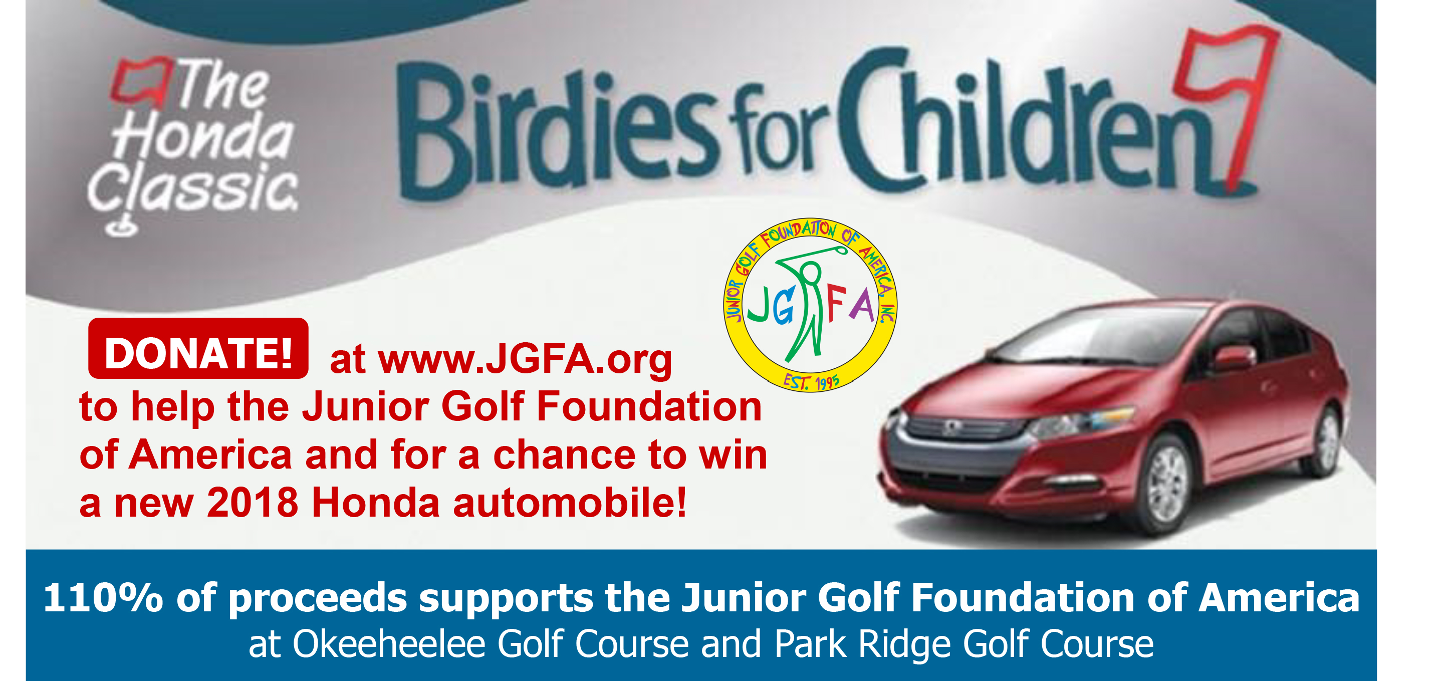 Birdies for Children Web link box 2017 2018 Donate at www.jgfa.org