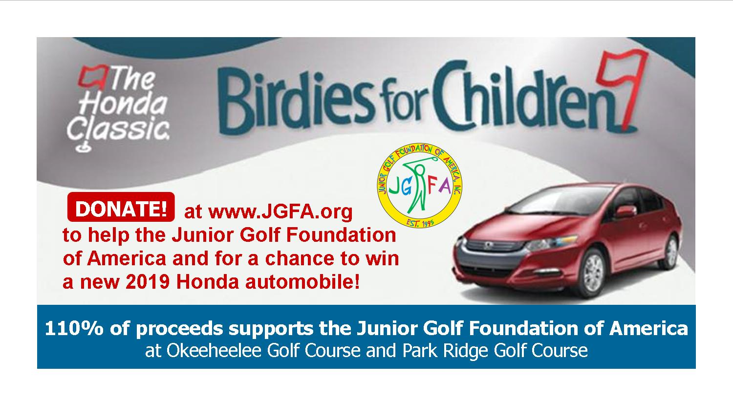 Birdies for Children Web link box 2018 2019 Donate at www.jgfa.org